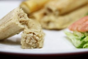 Chicken Cooked in Green Sauce Tamales